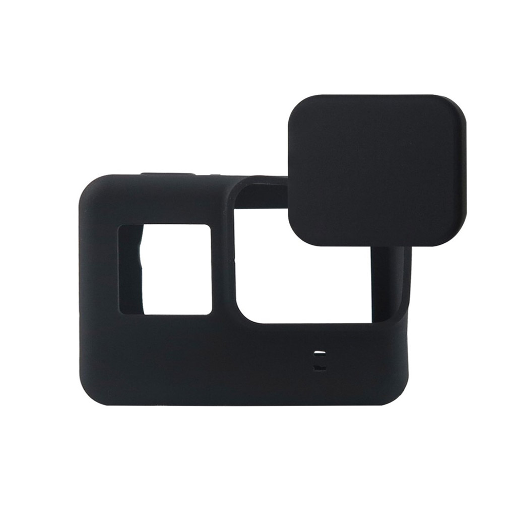 GoPro Hero5 silikonecover etui, med linse cover - Sort