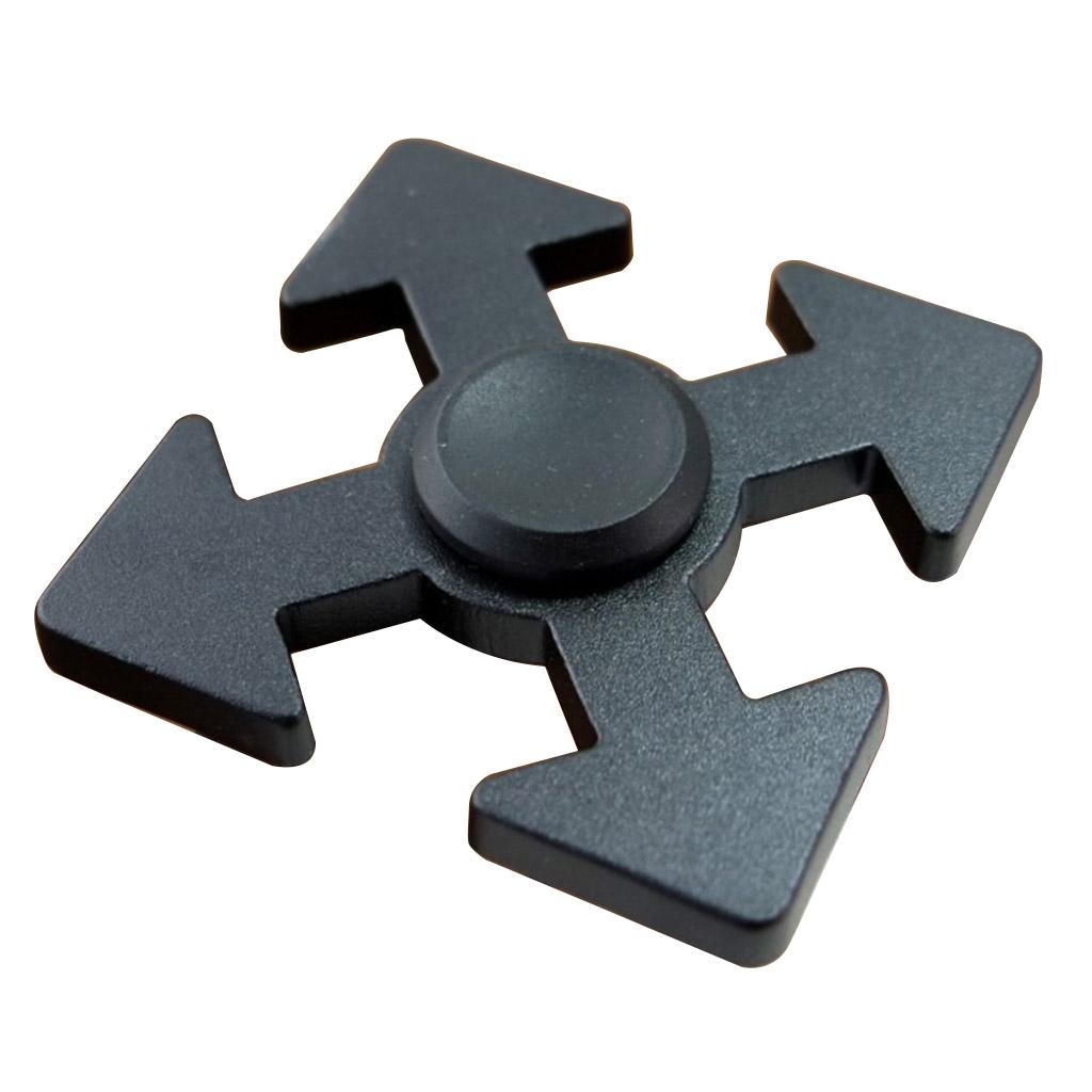 Image of   Fidget Hand Spinner i pildesign - Sort