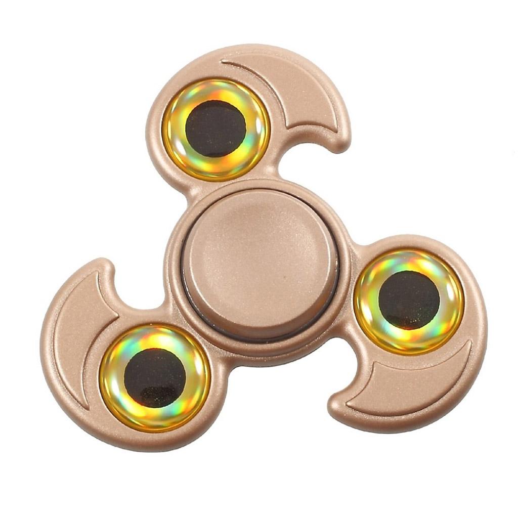 Image of   Fidget Hand Spinner med øjedesign - Guld