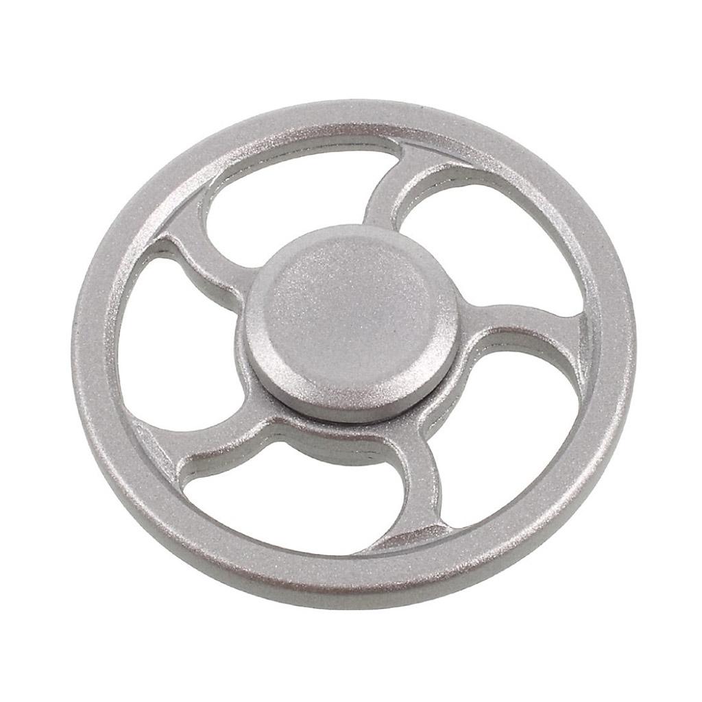 Image of   Fidget Hand Spinner i hjuldesign - Sølv