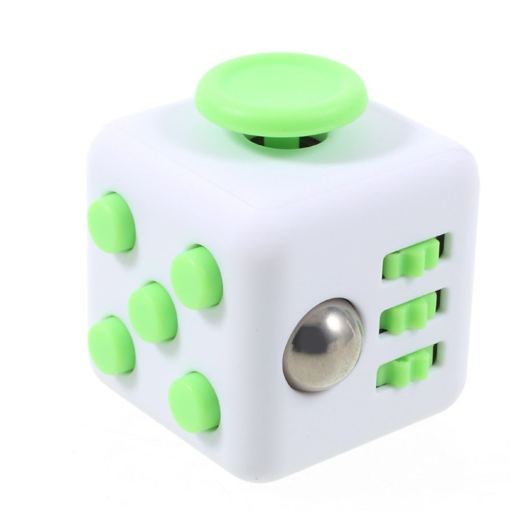 Image of   Fidget Cube stress reliever - White/Green