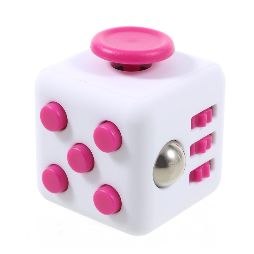 Image of   Fidget Cube stress reliever - White/Rose