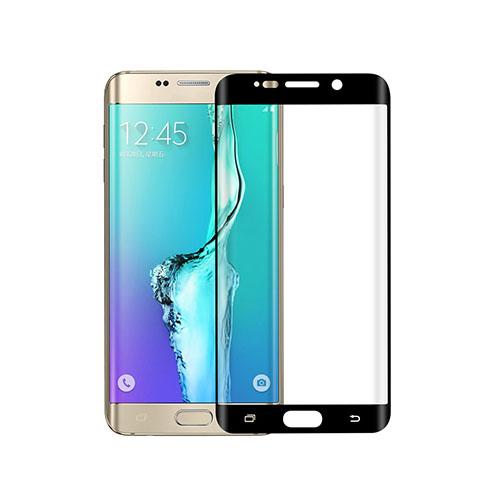 Image of   0.1mm PET kurvet fuldt ud beskyttende skærmbeskytter til Samsung Galaxy S6 edge Plus - Sort