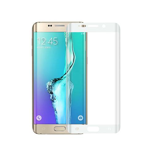 Image of   0.1mm PET kurvet fuldt ud beskyttende skærmbeskytter til Samsung Galaxy S6 edge Plus - Hvid