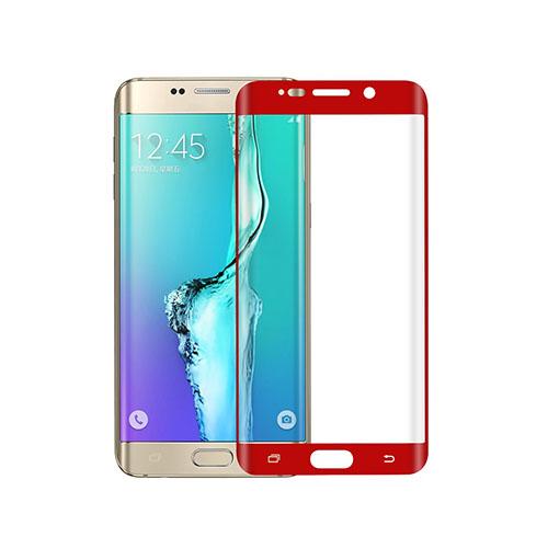 Image of   0.1mm PET kurvet fuldt ud beskyttende skærmbeskytter til Samsung Galaxy S6 edge Plus - Rød