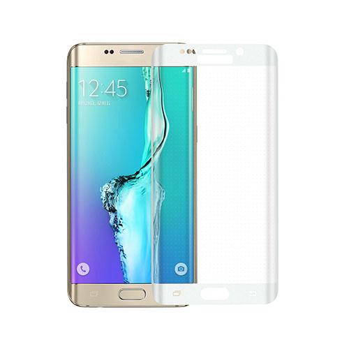 Image of   0.3mm kurvet skærmbeskyttelsesfilm i hærdet glas til Samsung Galaxy S6 edge Plus - Hvid