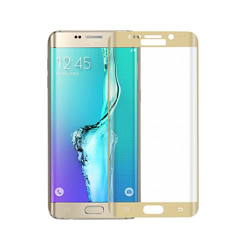 Image of   0.3mm kurvet skærmbeskyttelsesfilm i hærdet glas til Samsung Galaxy S6 edge Plus - Guld