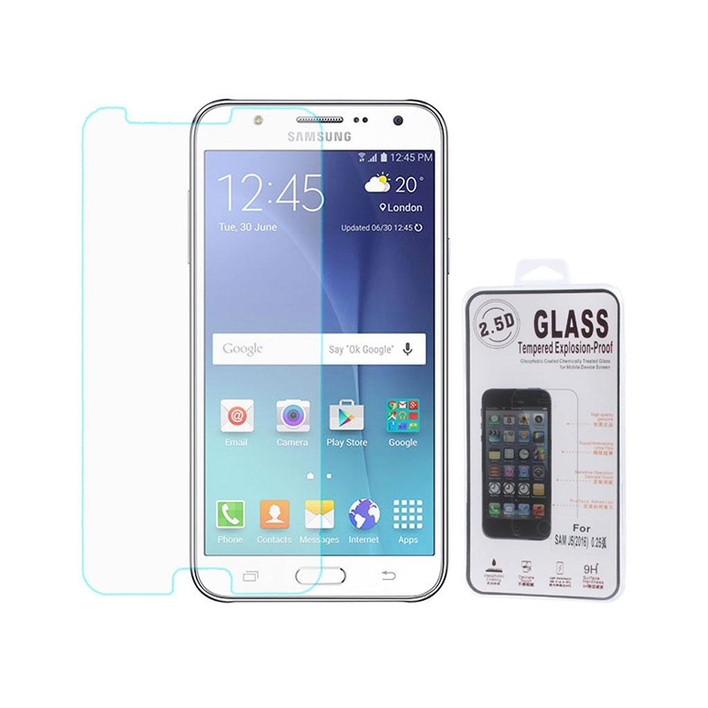 Image of   0.25mm hærdet skærmbeskyttelsesglas til Samsung Galaxy J5 (Arc Edge)