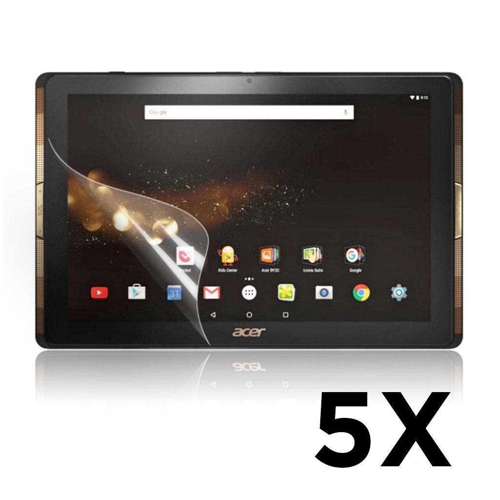 Acer Iconia Tab 10 A3-A40 Ultra klart beskyttelsesfilm 5 stk pakke