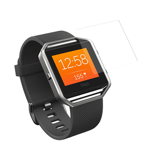 Image of   0.3mm hærdet HD skærmbeskyttelsesglas til Fitbit Blaze (Arc Edge)