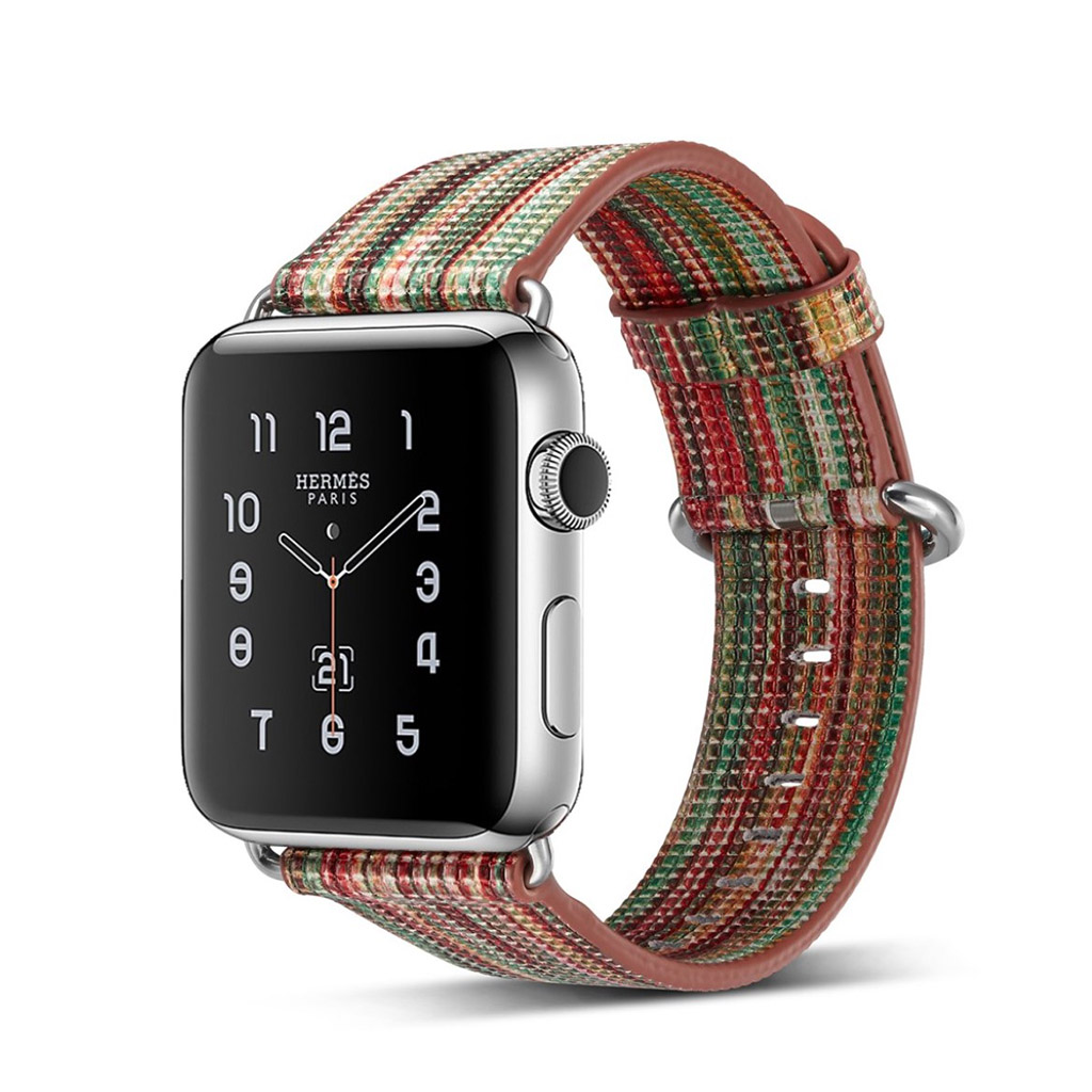 Image of   Apple Watch 42mm urrem i ægte læder - Style A