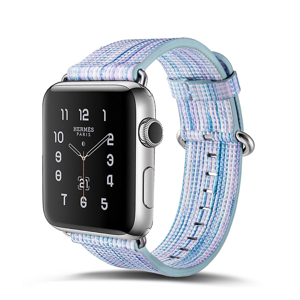 Image of   Apple Watch 42mm urrem i ægte læder - Style J