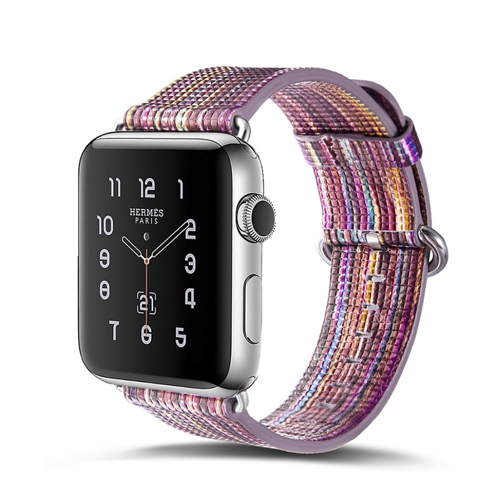 Image of   Apple Watch 42mm urrem i ægte læder - Style H