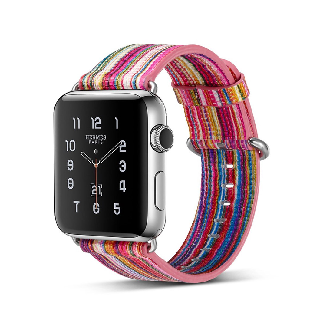 Image of   Apple Watch 42mm urrem i ægte læder - Style D