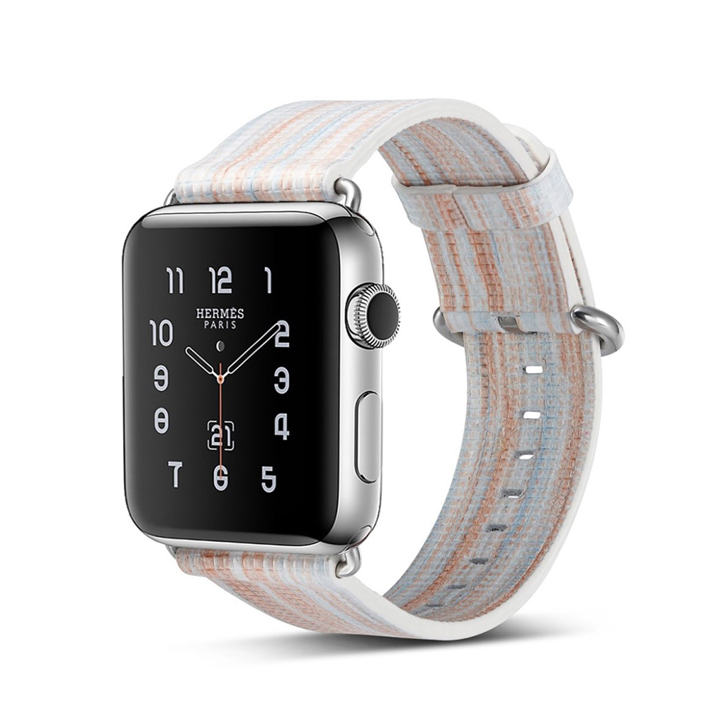 Image of   Apple Watch 42mm urrem i ægte læder - Style C