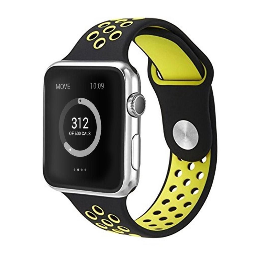 Image of   Apple Watch 42mm silikone rem - Gul