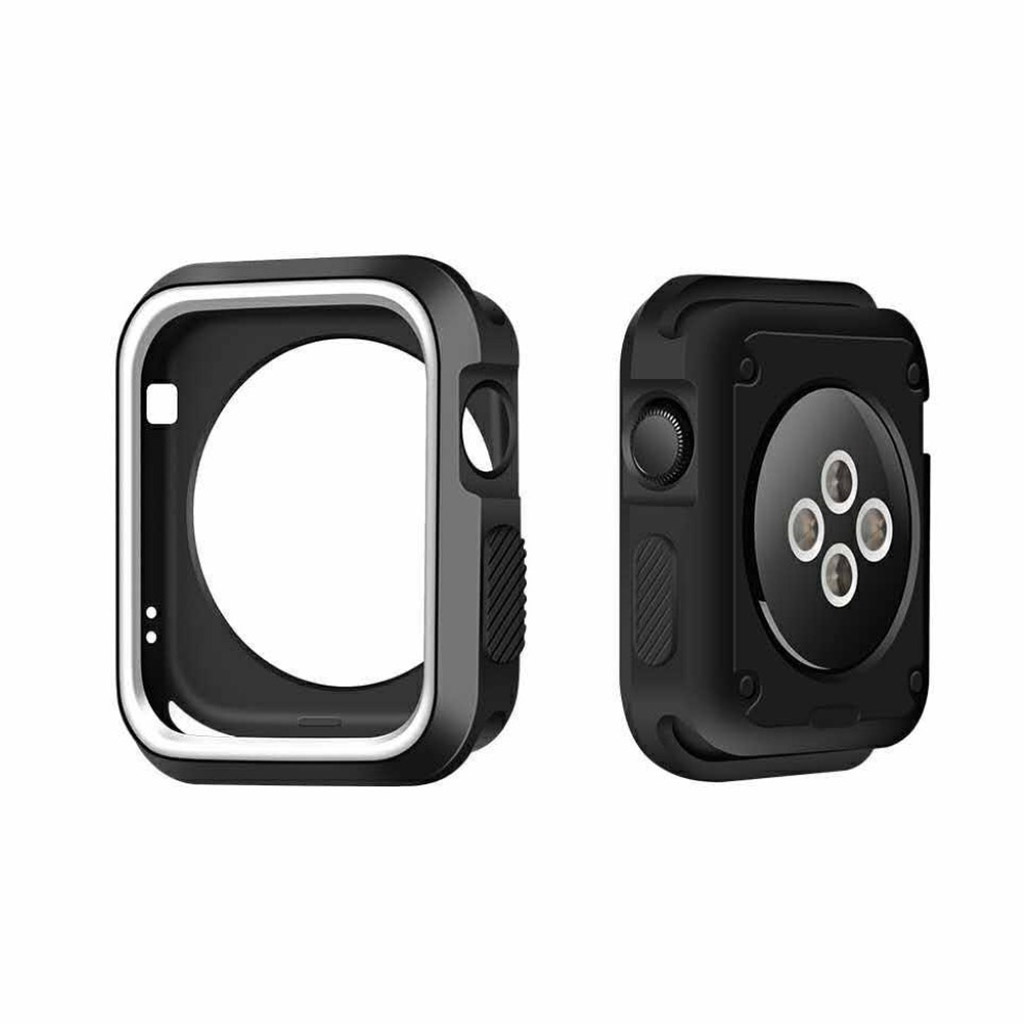 Image of   Apple Watch 38mm Silikone cover - Sort/hvid