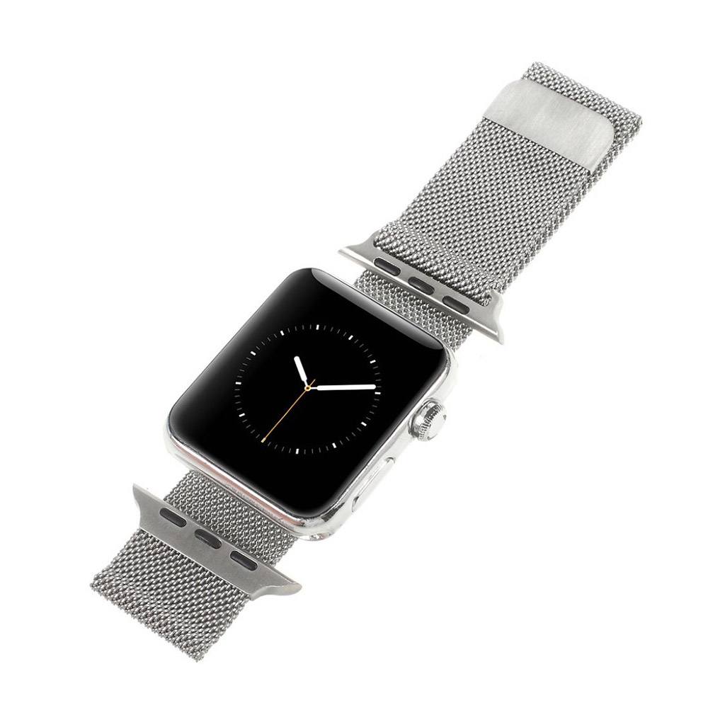Image of   Apple Watch 38mm urrem i rustfri stål - Sølv farvet