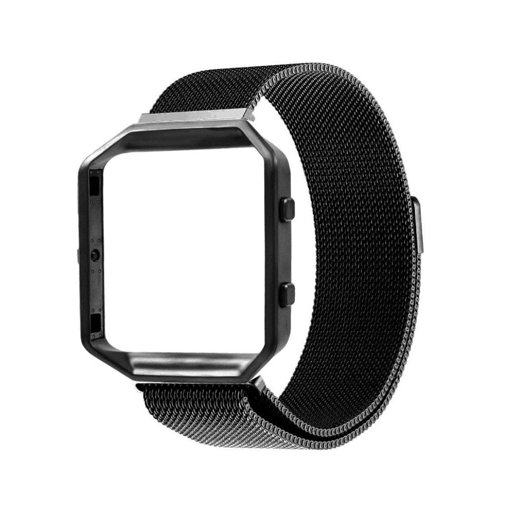 Image of   Fitbit Blaze armbånd af milanesisk rustfrit stål - Sort