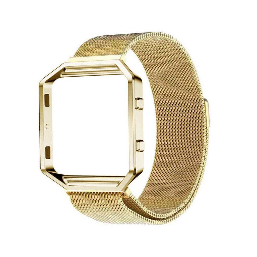 Image of   Fitbit Blaze armbånd af milanesisk rustfrit stål - Guld