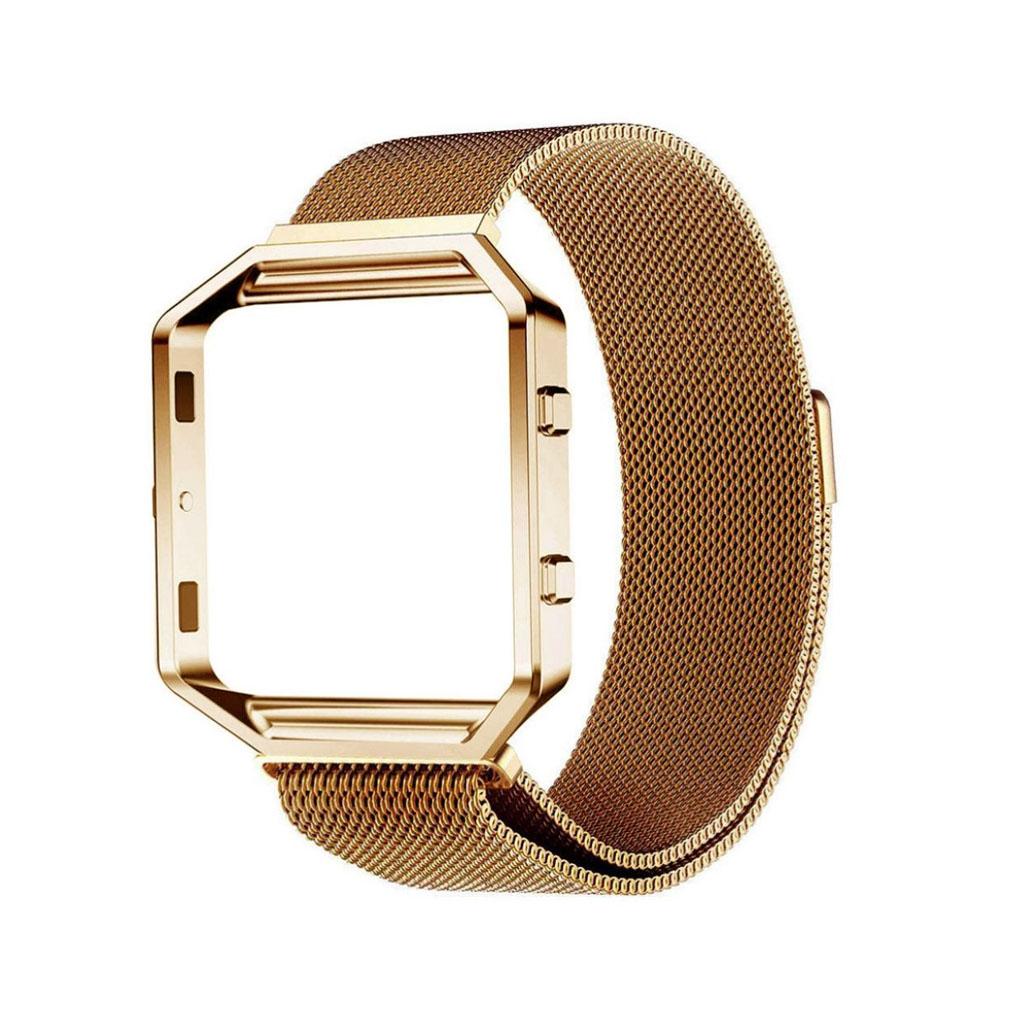 Image of   Fitbit Blaze armbånd af milanesisk rustfrit stål - Brun