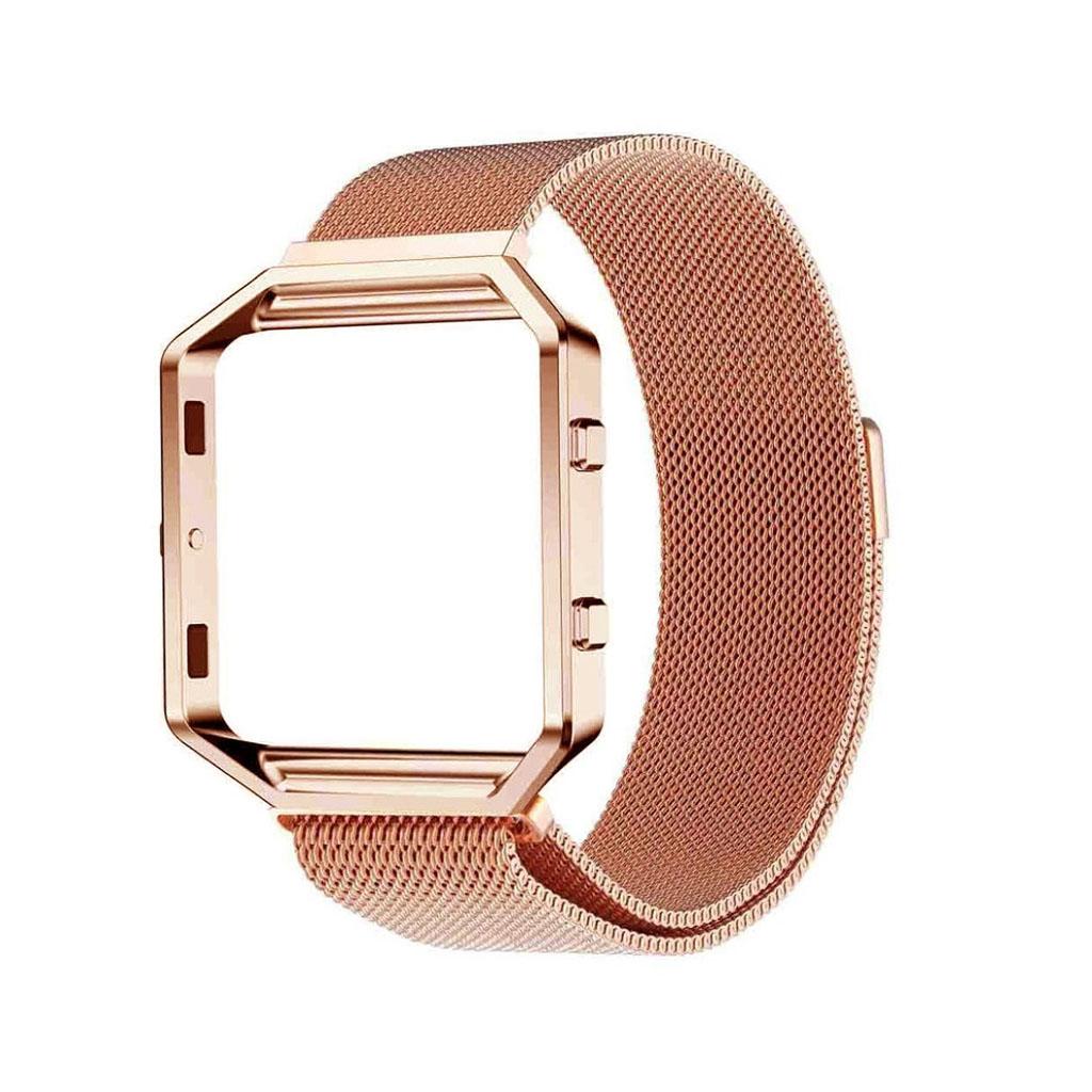 Image of   Fitbit Blaze armbånd af milanesisk rustfrit stål - Rødguld