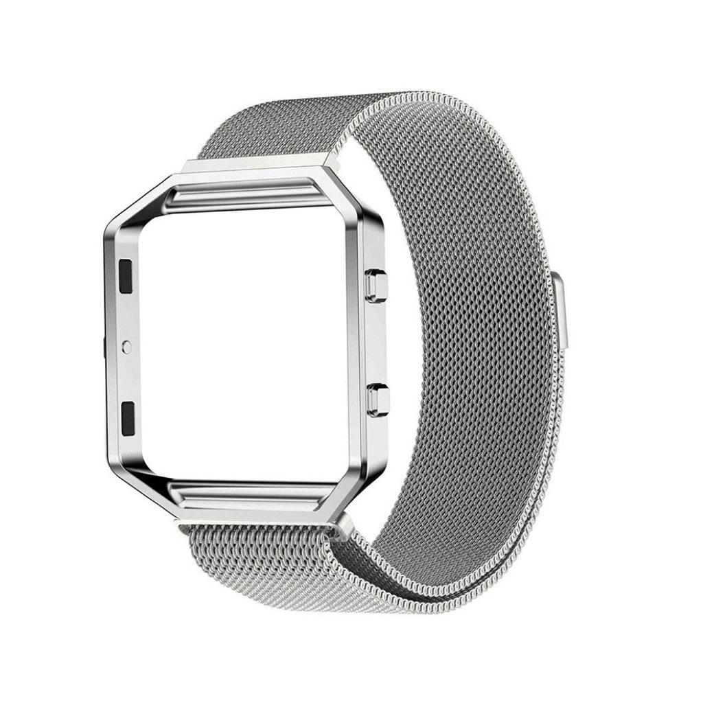 Image of   Fitbit Blaze armbånd af milanesisk rustfrit stål - Grå