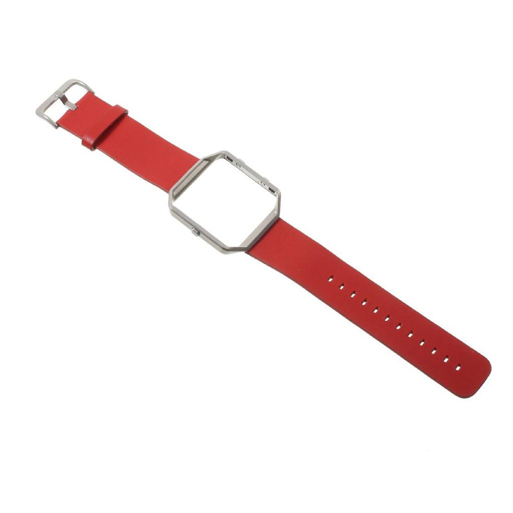 Image of   Fitbit Blaze Læder blød og holdbar rem - Rød