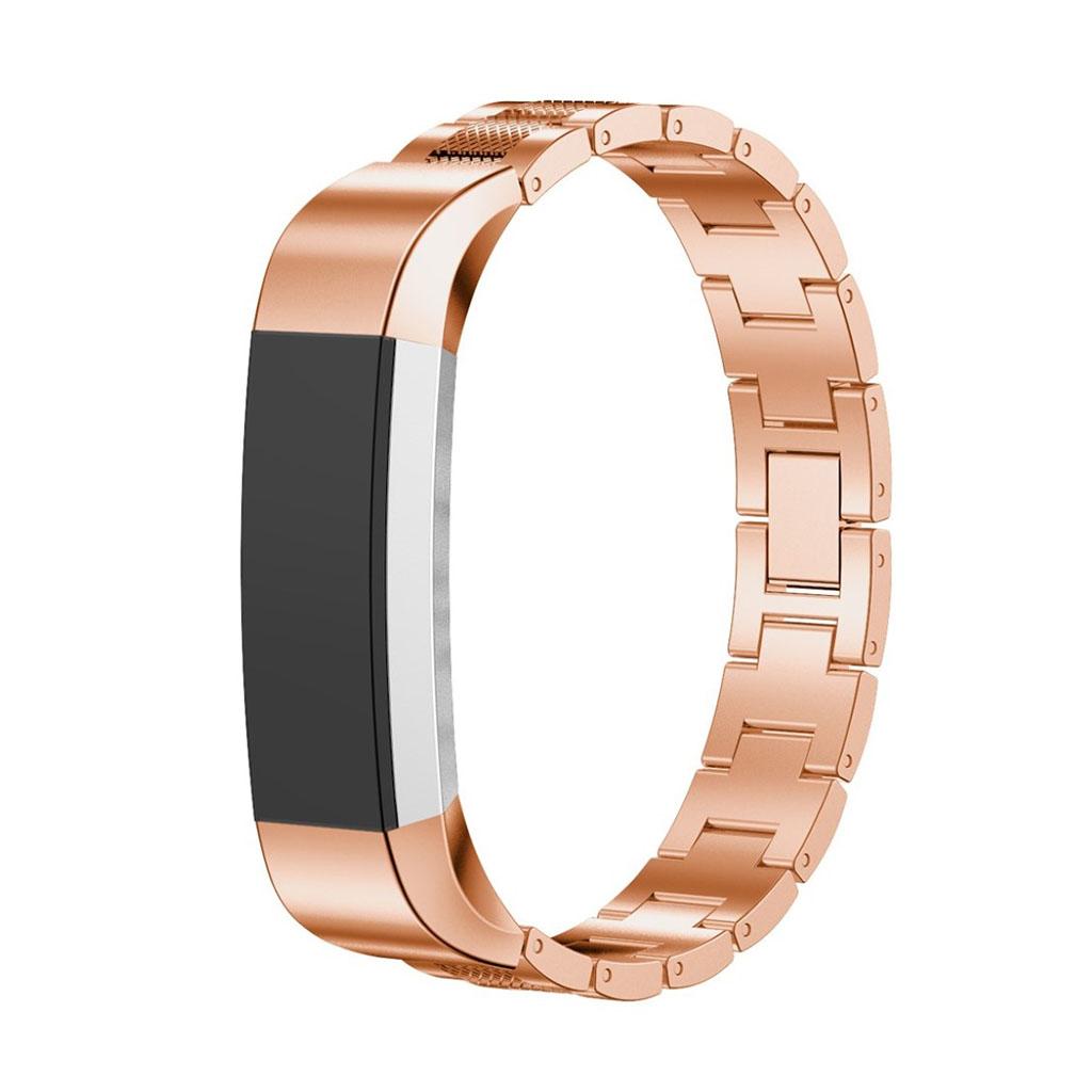 Image of   Fitbit Alta armbånd af rustfri stål - Rødguld
