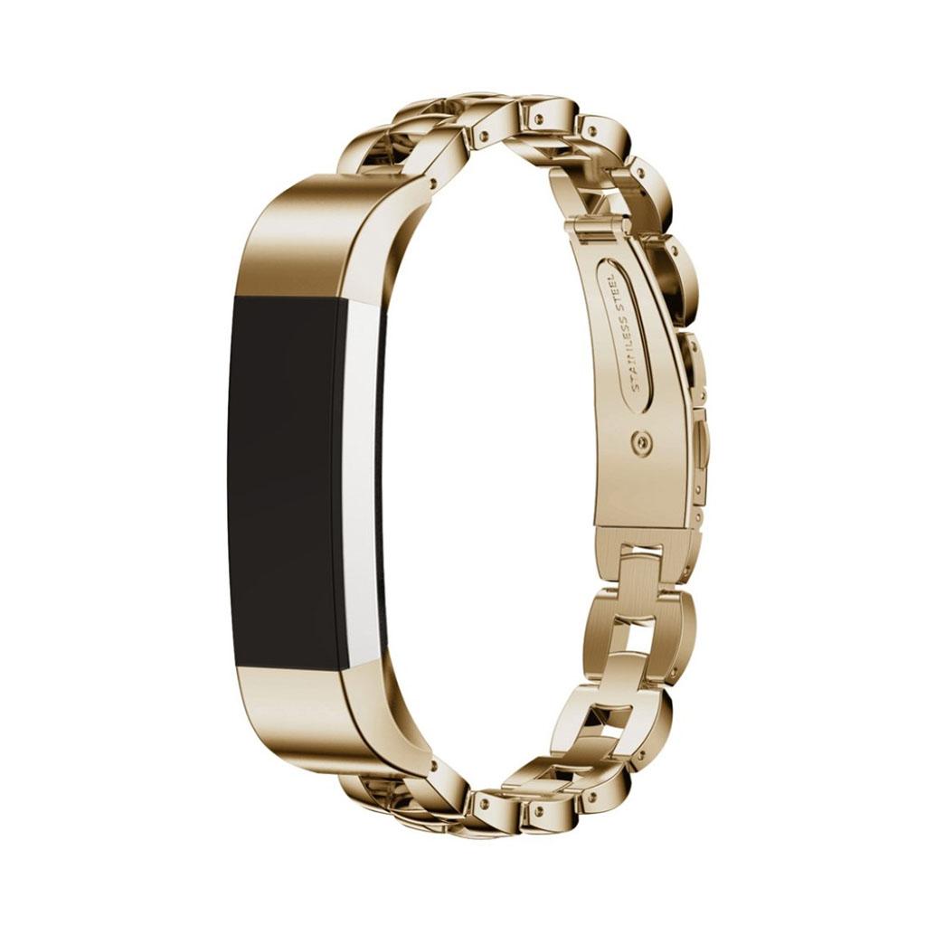 Image of   Fitbit Alta armbånd af rustfri stål - Khaki