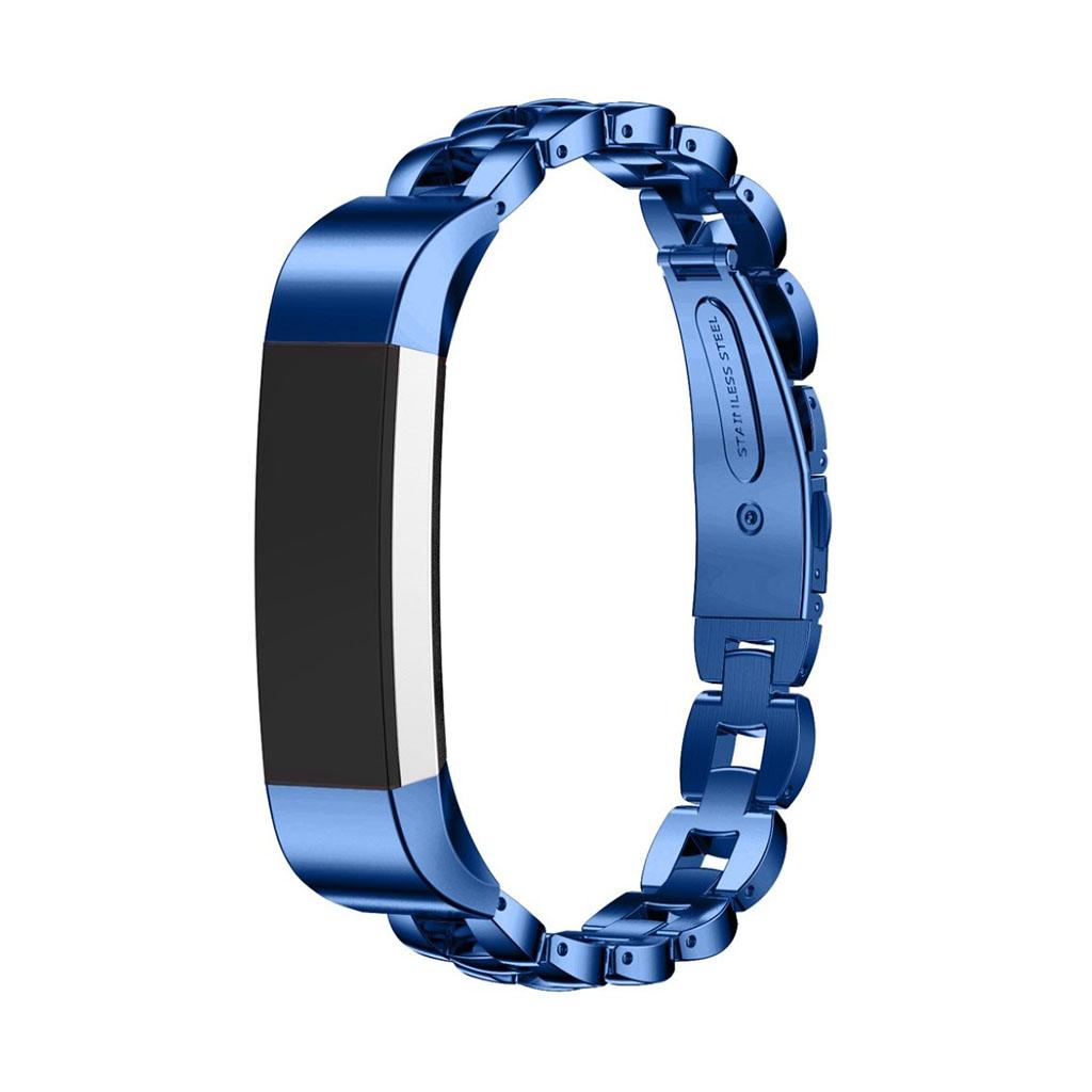 Image of   Fitbit Alta armbånd af rustfri stål - Blå