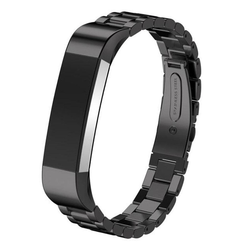 Image of   Fitbit Alta stilfuldt urrem af rustfri stål - Sort