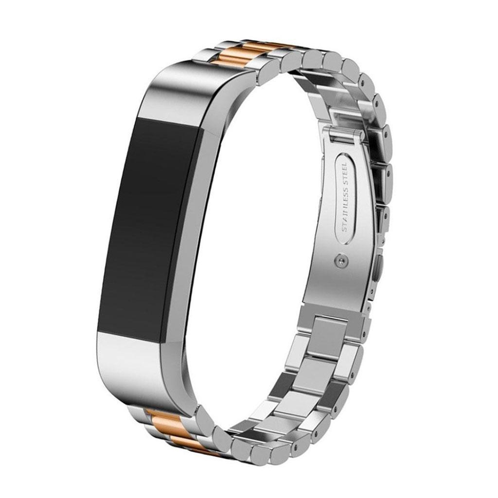 Image of   Fitbit Alta rem af rustfri stål - Guld og sølv