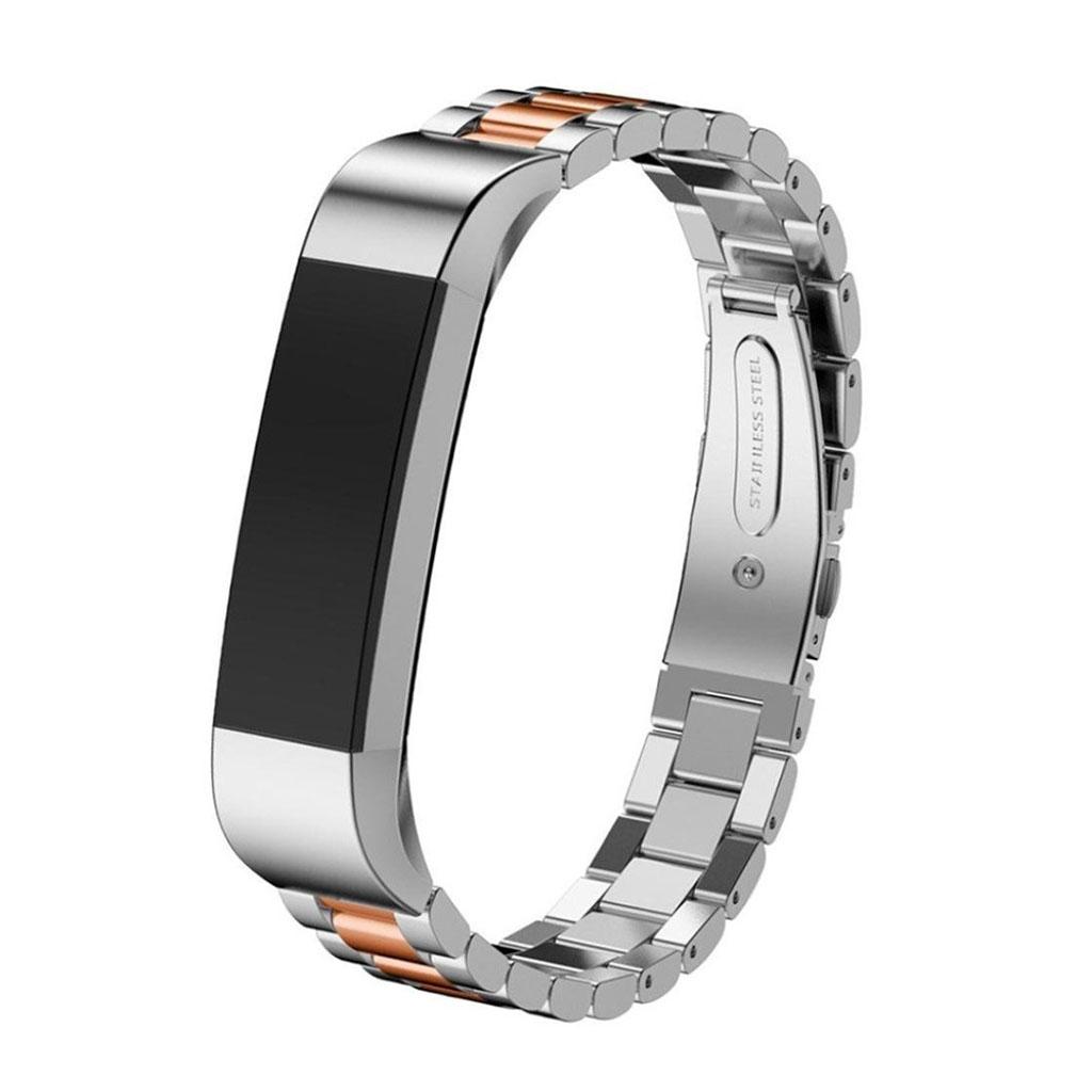 Image of   Fitbit Alta rem af rustfri stål - Rødguld og sølv