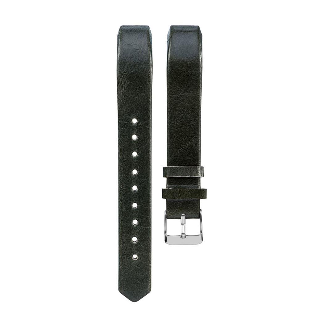 Image of   Fitbit Alta rem i ægte læder - Sortgrøn