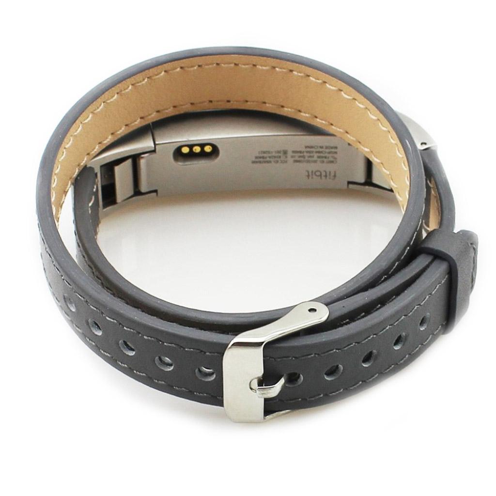 Image of   Fitbit Alta rem i ægte læder - Grå