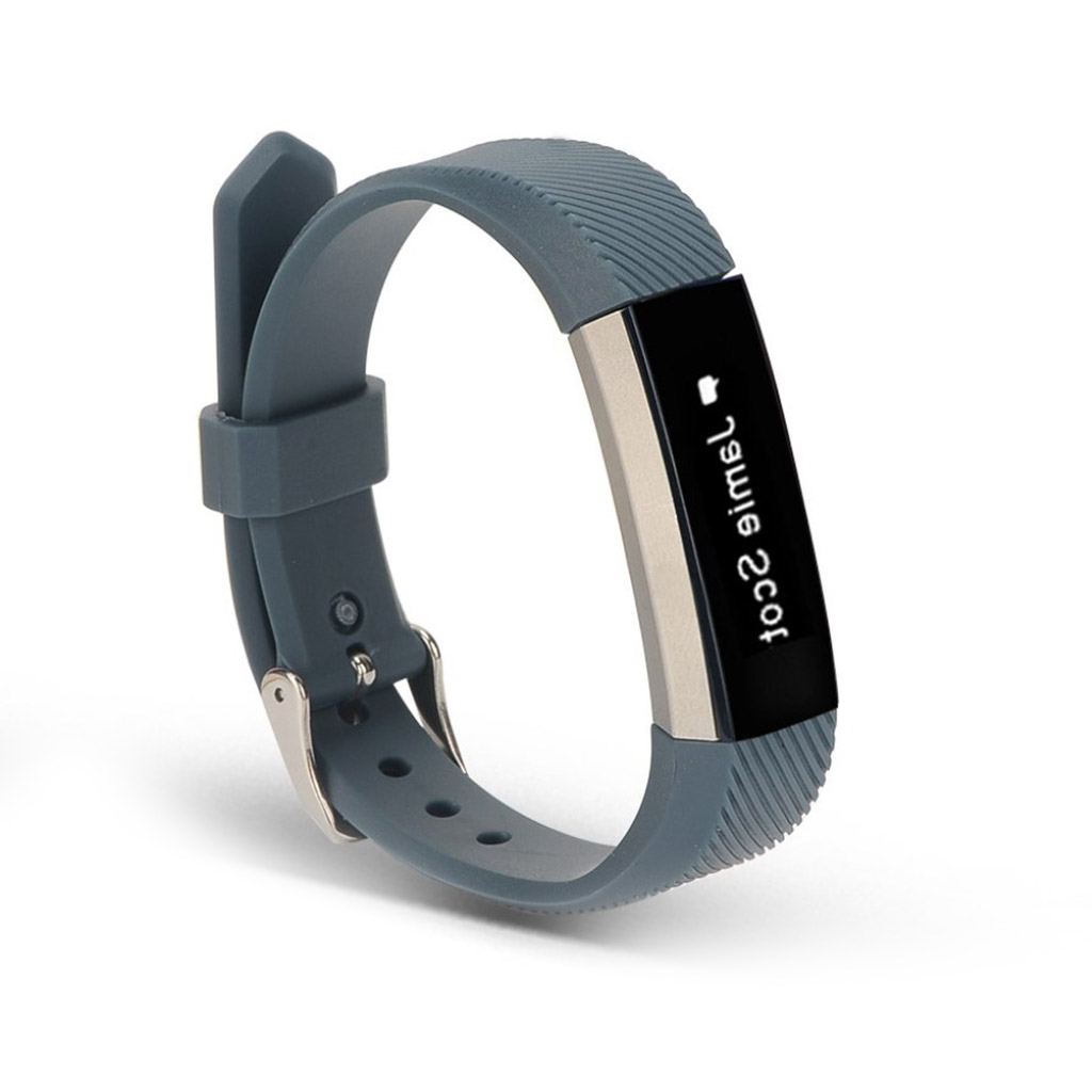 Image of   Fitbit Alta sports watch strap - Black Blue