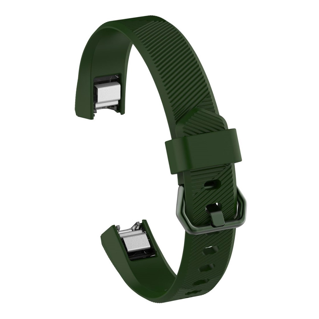 Image of   Fitbit Alta adjustable TPU sports watch strap - Army Green