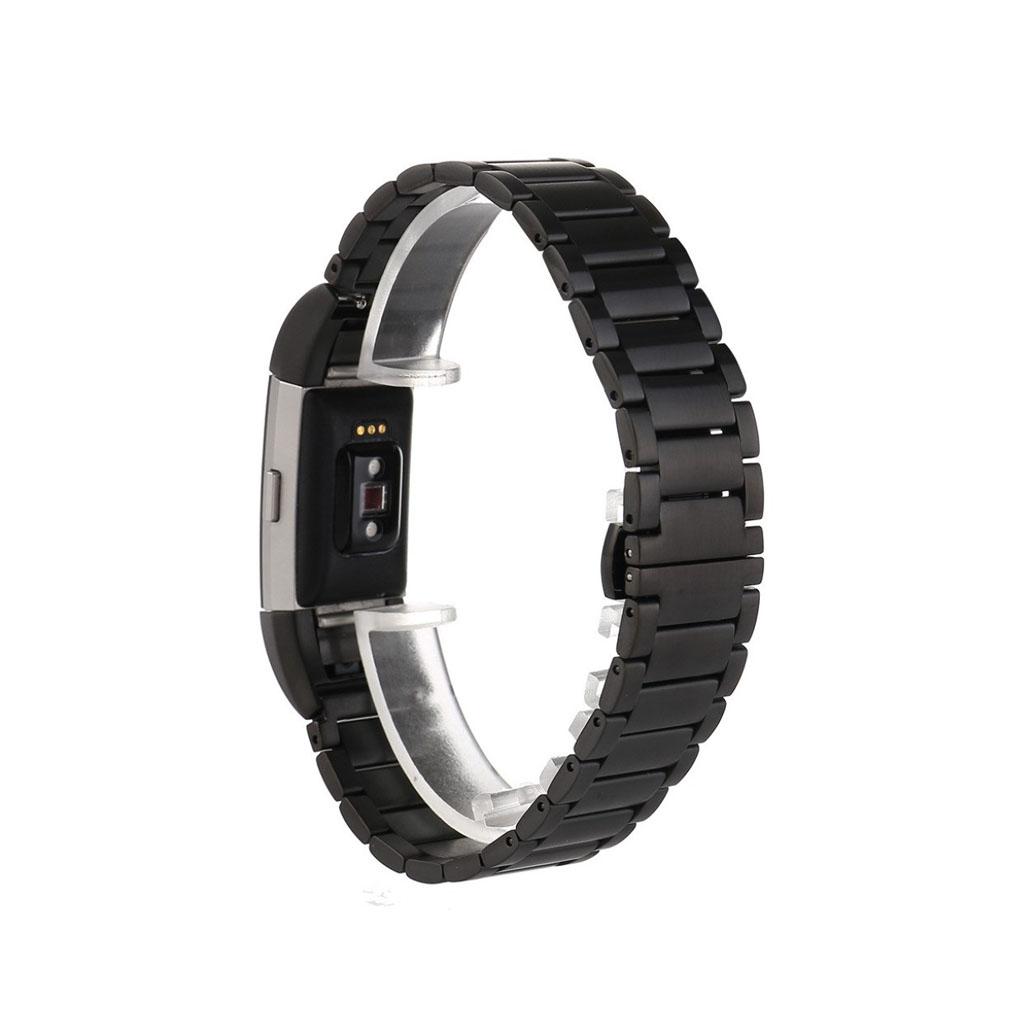 c028e4c914a Fitbit Charge 2 stilfuldt armbånd af rustfrit stål - Sort