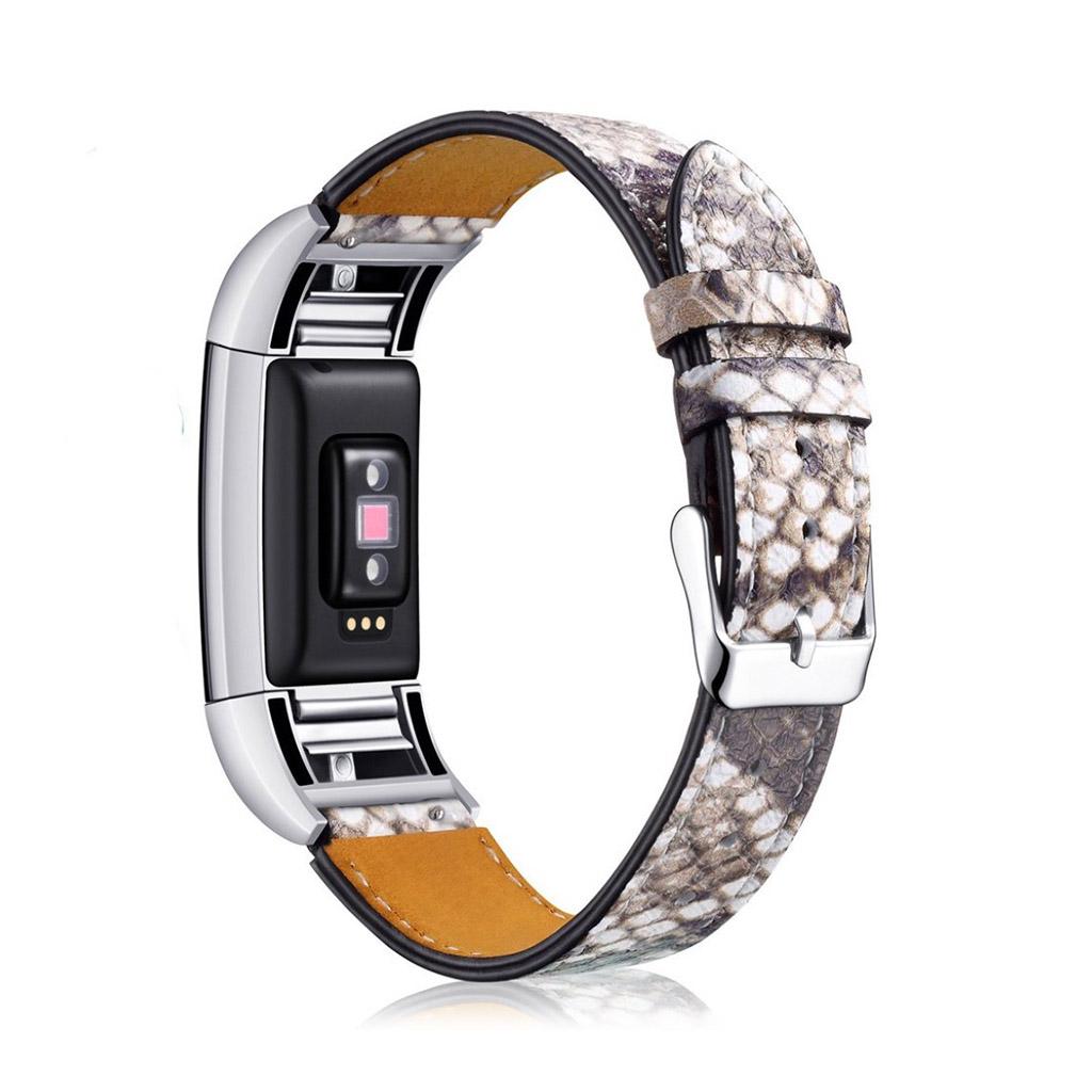 52352137c5f Fitbit Charge 2 Rem i ægte læder - Slangeskin mønster