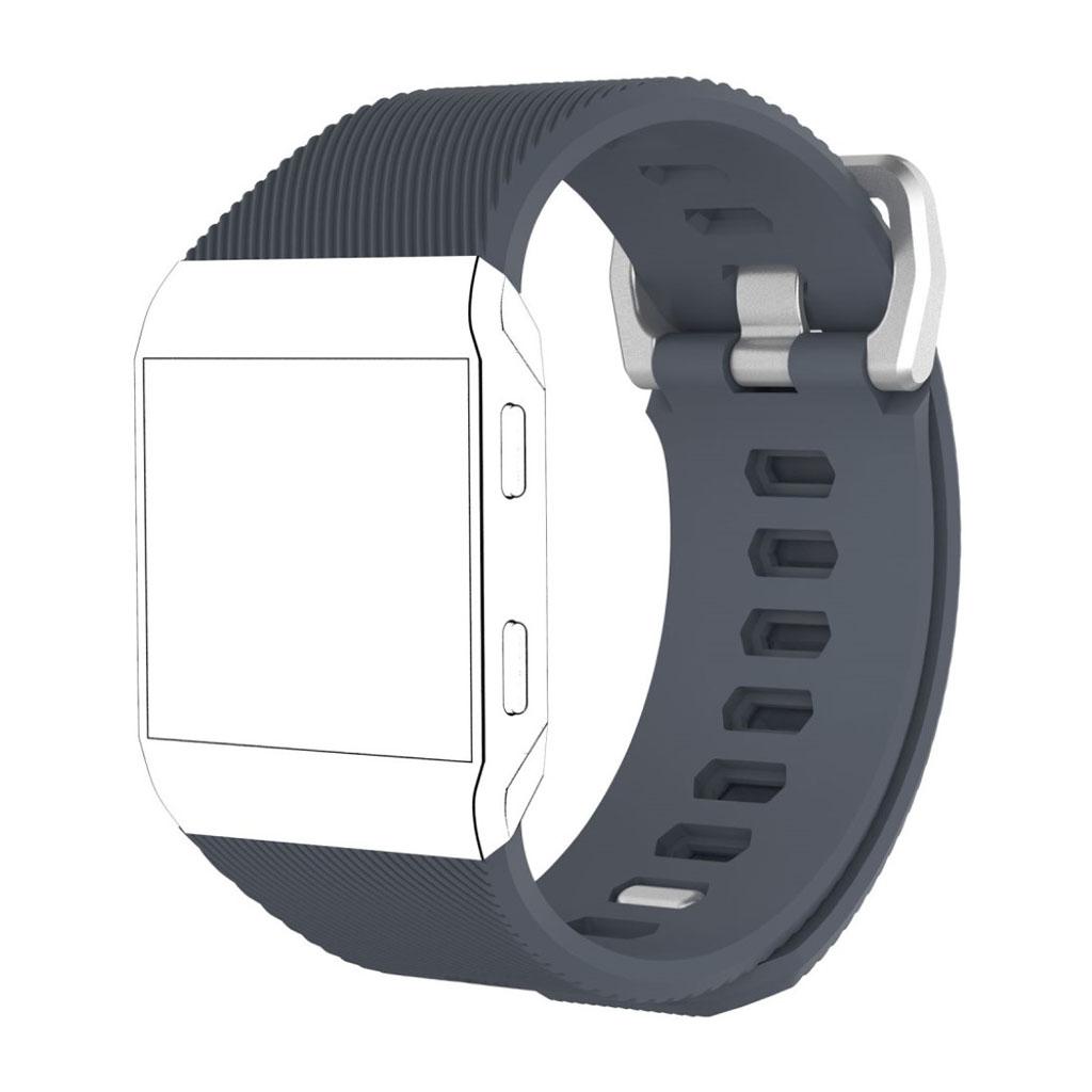 Image of   Fitbit Ionic silikone rem - Sortblå Størrelse L