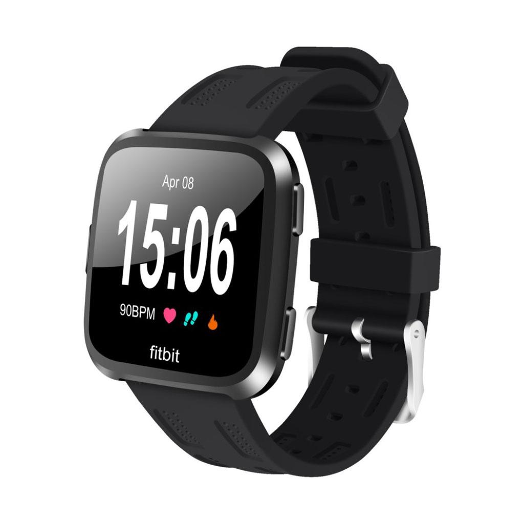 Fitbit Versa adjustable soft silicone watchband - Black