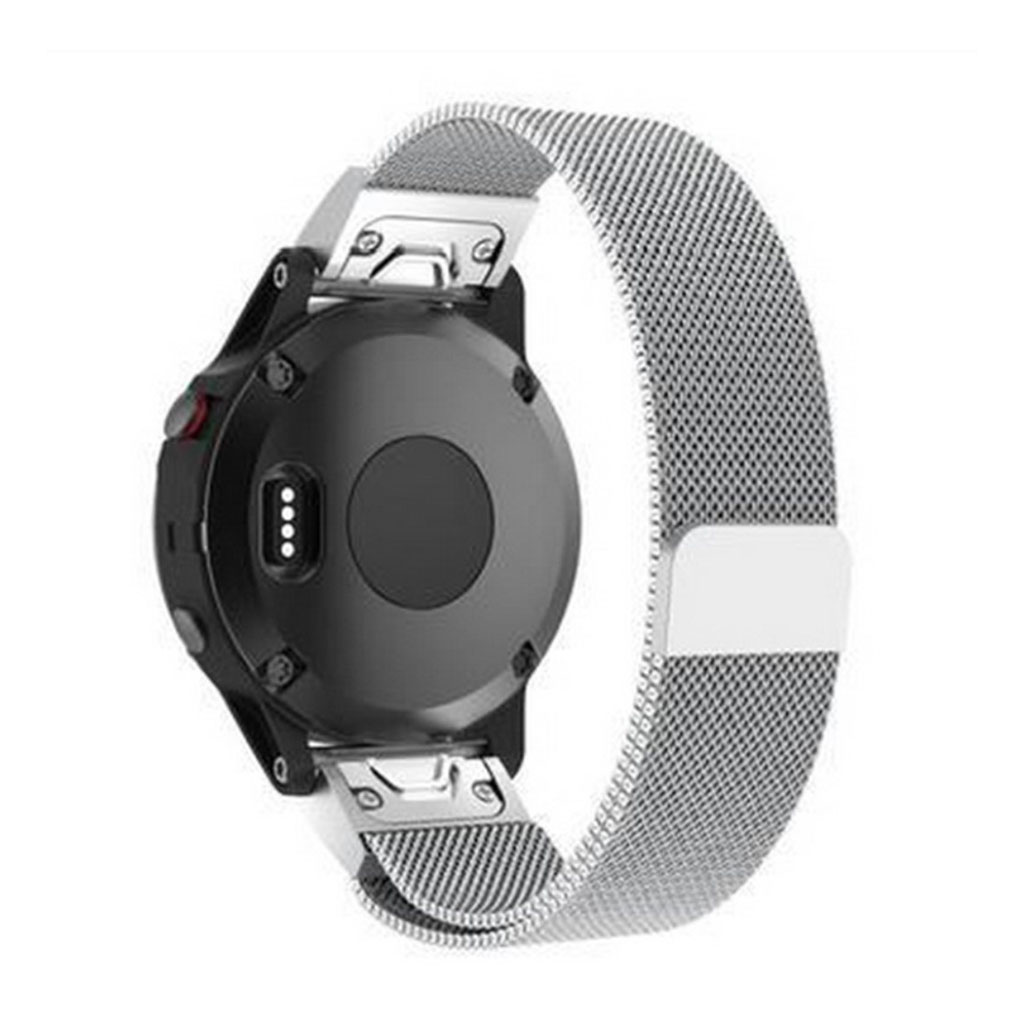 Image of   Garmin Fenix 5X milanese metal watchband replacement - Silver