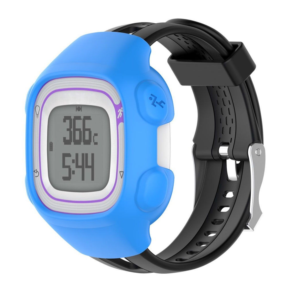 Garmin Forerunner 10 beskyttelsesskal til uret (herre) i blødt silikone - Blå
