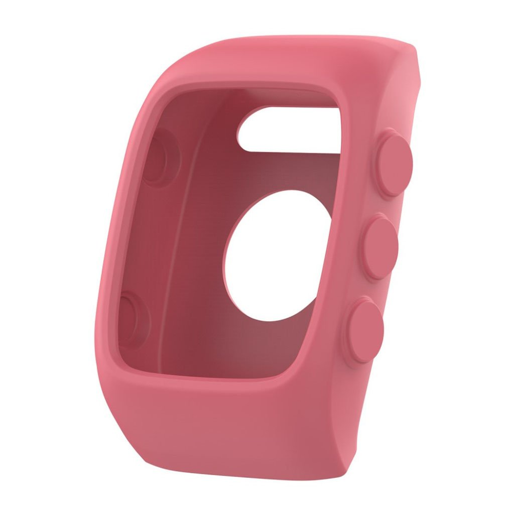 Image of   Polar M400 shockproof soft silicone protective case - Pink
