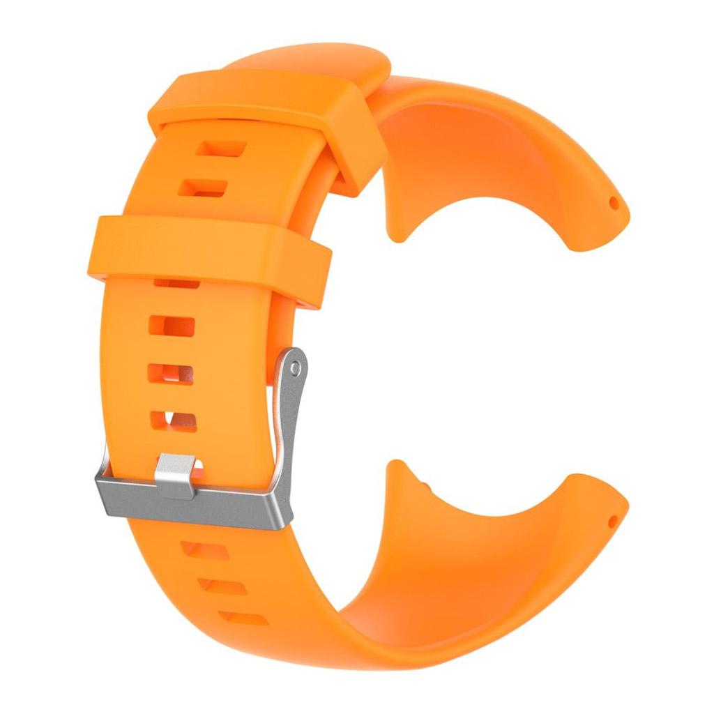 Image of   Suunto Core Alu Black Silikone rem med metal spænde - Orange