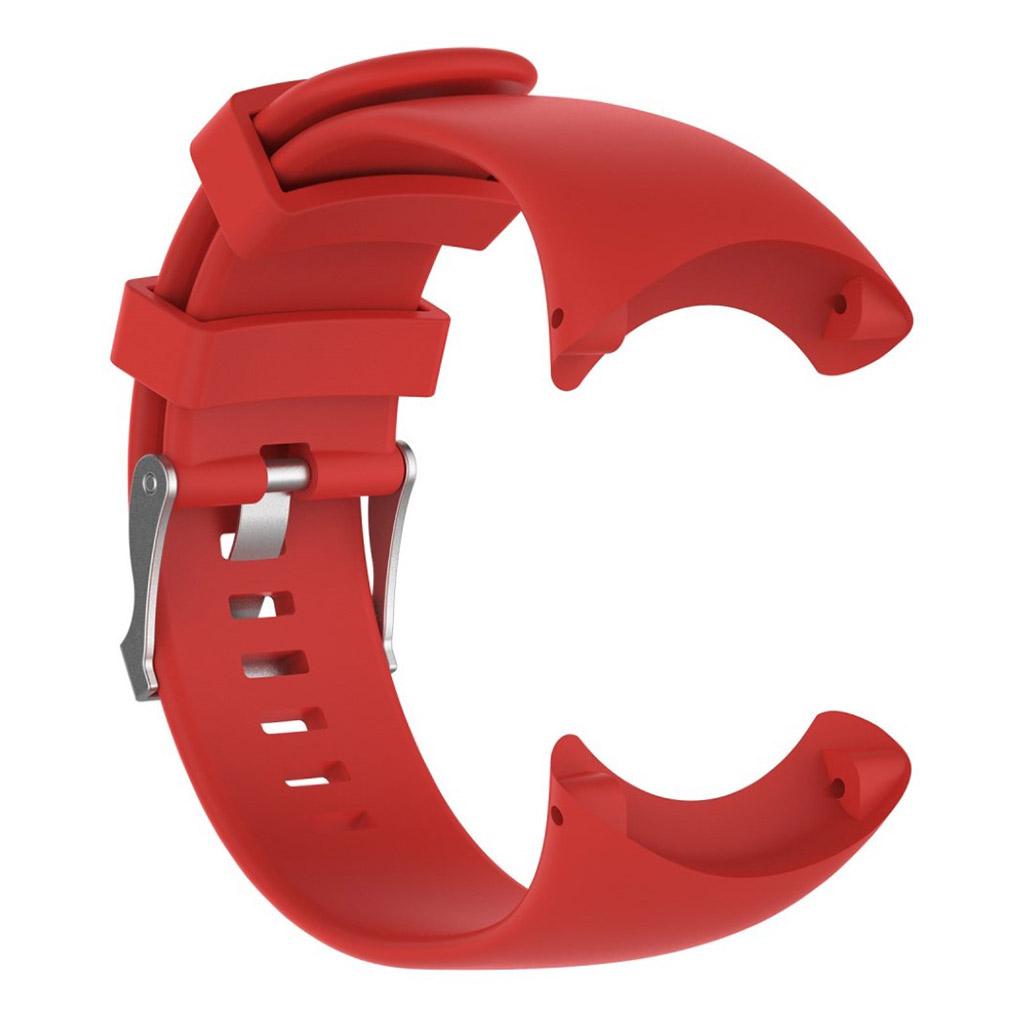 Image of   Suunto Core Alu Black Silikone rem med metal spænde - Rød
