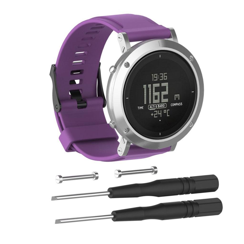 Image of   Suunto Essential silicone watchband - Purple