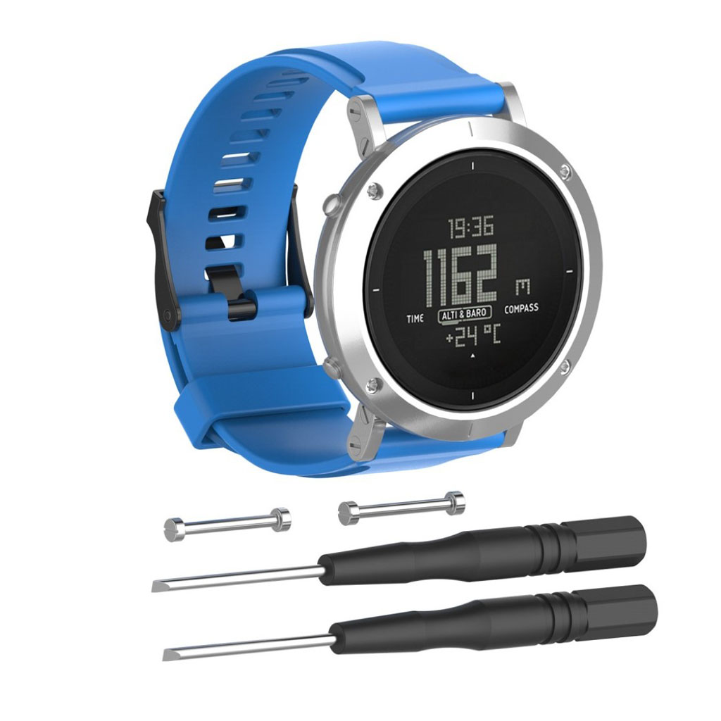 Image of   Suunto Essential silicone watchband - Blue