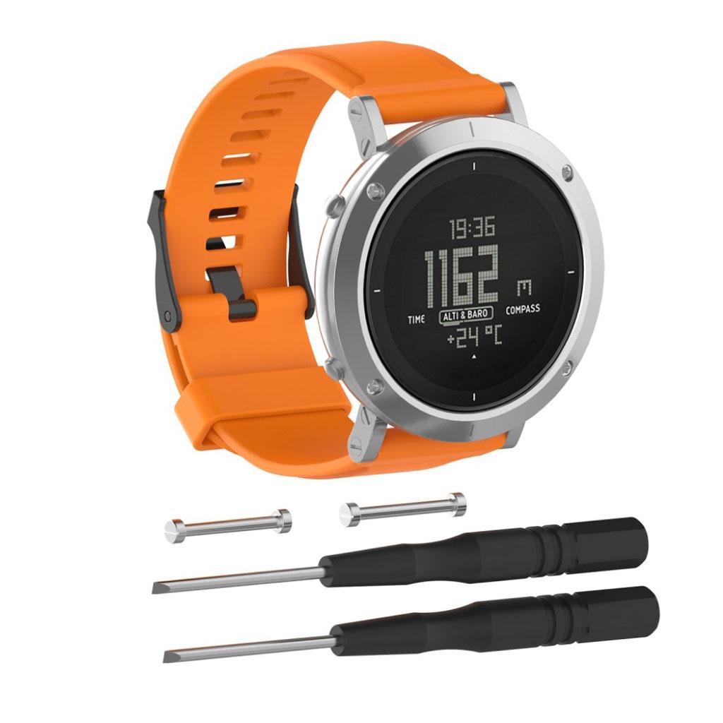 Image of   Suunto Essential silicone watchband - Orange